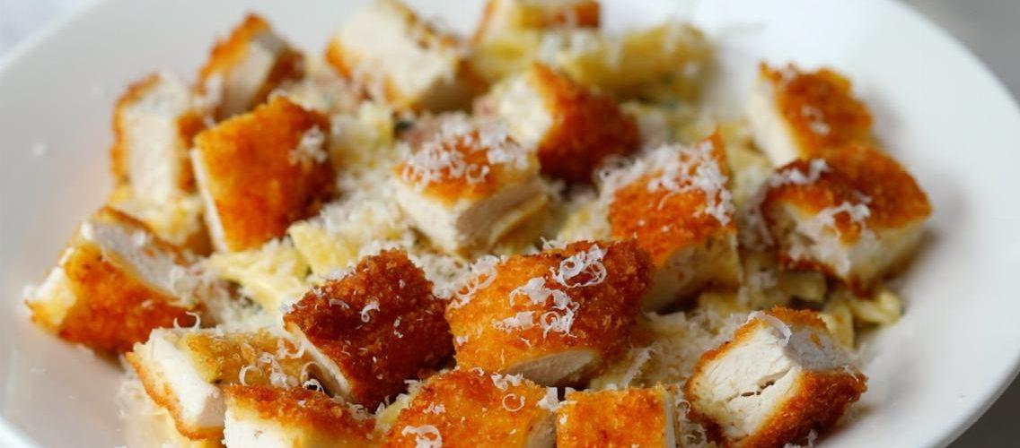 μακαρόνια με κοτόπουλο cordon bleu